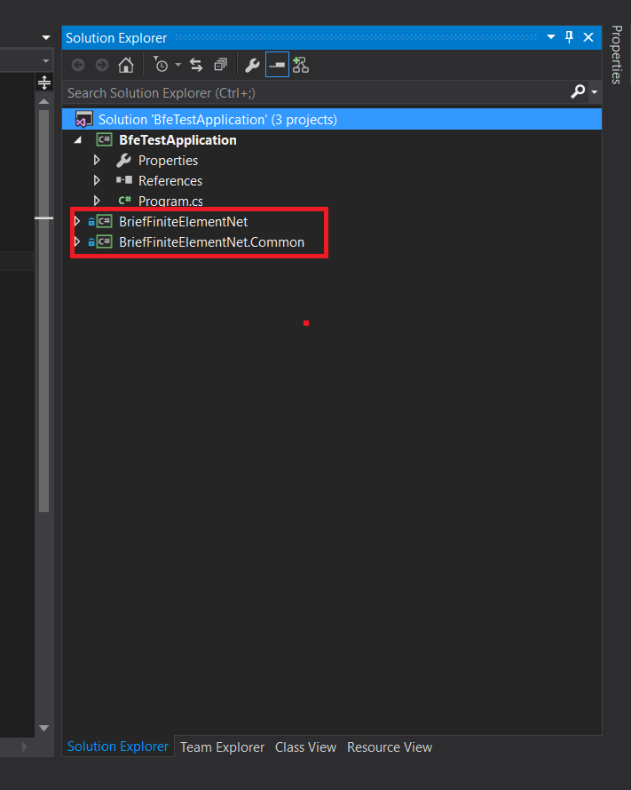 Create a project and compile BRiefFiniteElement from source code